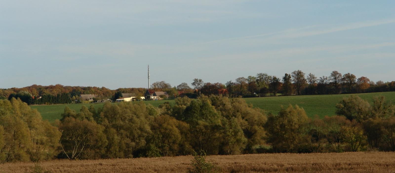 Blick von Stegelitz nach Pfingstberg