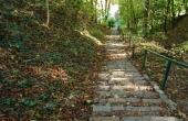 Treppe zum Hügel in Oderberg