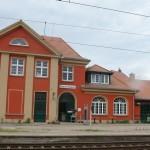 Bahnhof Chorin mit Fahrradverleih